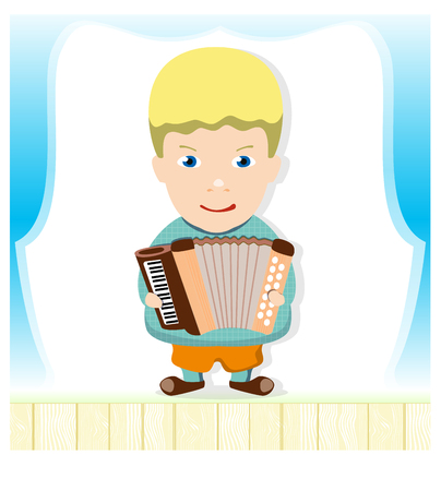 virtuoso: boy with accordion