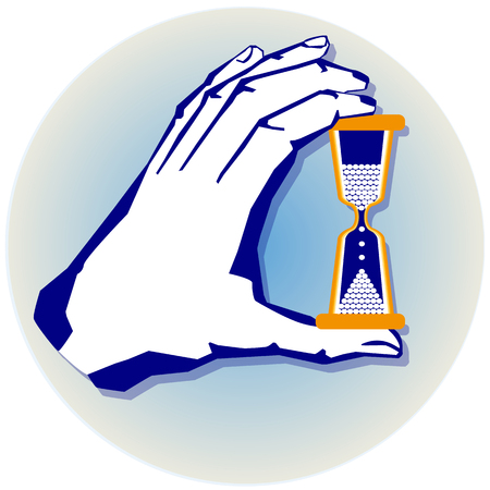 oldened: hand with hourglass
