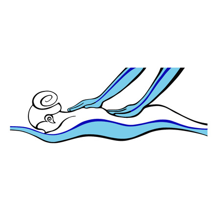 Spa  Massage Icon  Woman doing hand massage