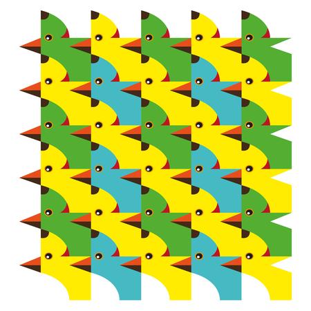 cute dog: cute dog with bird pattern vector illustration Illustration