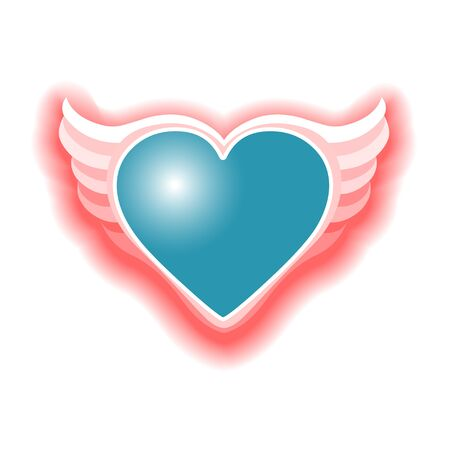 lovingly: The Valentines day heart with wings Vektor