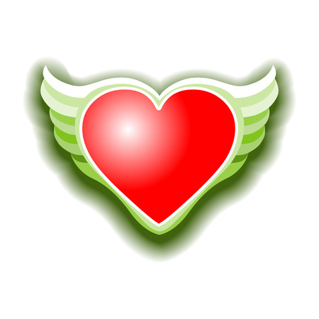 paramour: The Valentines day heart with wings Vektor