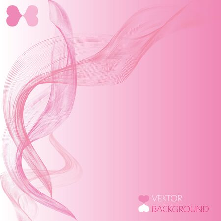 swoosh: Abstract pink swoosh wave for wedding background. Vector illustration