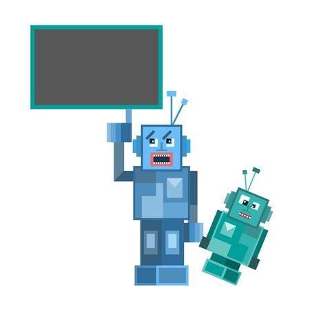 talking robot: Talking Robot. Vector Illustration from funny  doodles set
