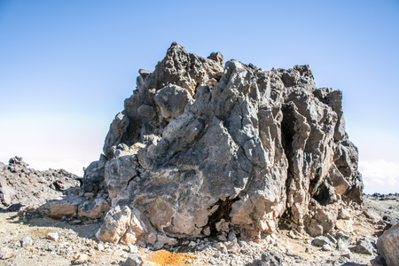 volcanism: Cliff created after volcano eruptionThe removed rocks the remains of ancient volcanoes in Spain.