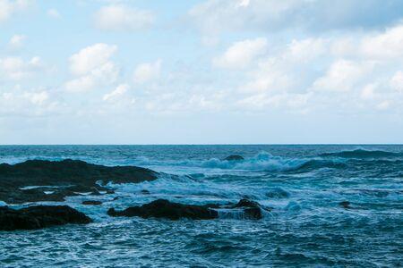 ocean wave in the ocean during storm