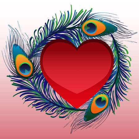 heart illustration: Text  greetings on Valentines Day. vector love background Illustration