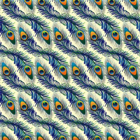 Naadloos exotische pauw patroon achtergrond in vector