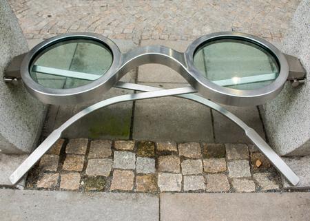 nearsighted: Eyeglasses shape bench