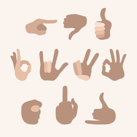 hand touch: Touch screen hand gestures icons set for mobile application design isolated illustration