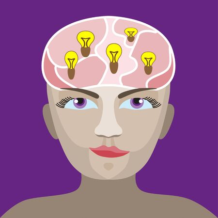 man s: silhouette of a man s head with a glowing light bulb