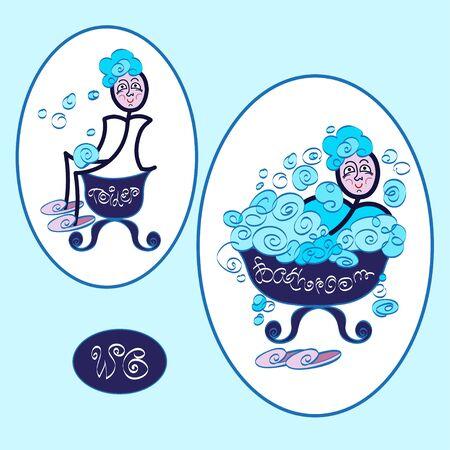 wc: Toilet and bathroom, funny wc restroom symbols