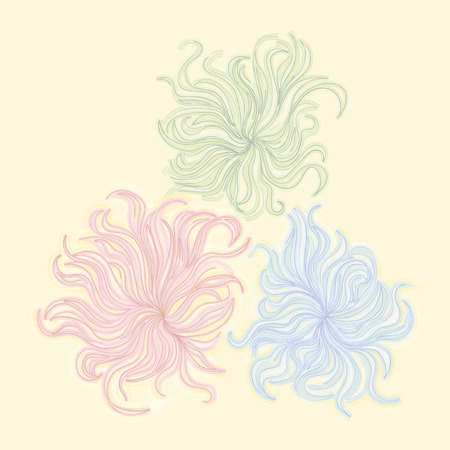 chalks: illustration drawing pastel chalks frangipani flower background Illustration