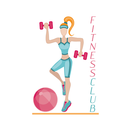 editions: Sportswoman. element for sport motivation posters. Dont stop inscription. Run motivation. Good for sport editions, fitness club, magazines and websites. Isolated objects on white background Illustration