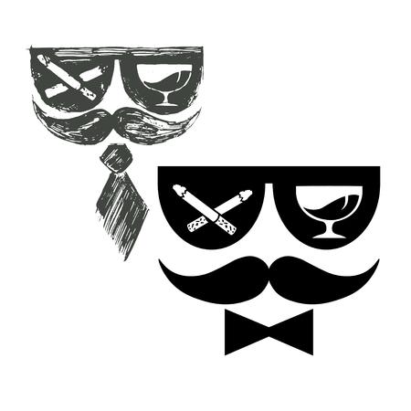 Cartel para el partido de macho, Hola Licenciatura, blanco y negro.