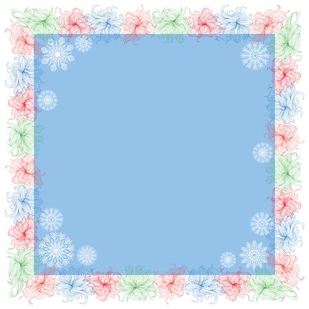 Winter frame for your text or presentation. Stock Photo