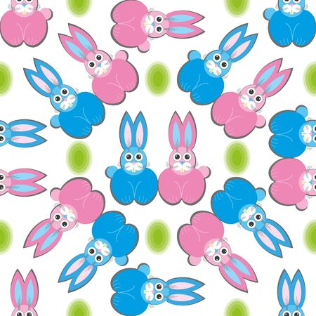 Cute rabbit family seamless pattern, Can be used for Easter card