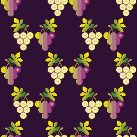 clusters: Seamless decorative pattern with clusters of grapes. Grape background.