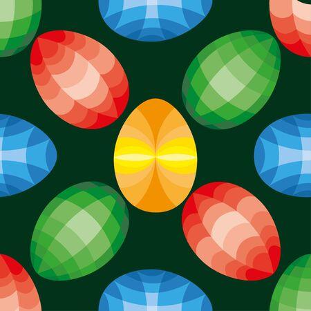 Beautiful Easter Egg Seamless Pattern Background Illustration Stock Photo