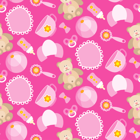 toes: A cute Newborn seamless pattern for Baby girl.Baby design elements,for fabric,background,wallpaper,backdrop. New born baby infographic.