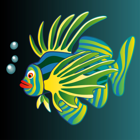 Illustration. Colorful Fish.