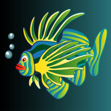Vector Illustration. Colorful Fish.