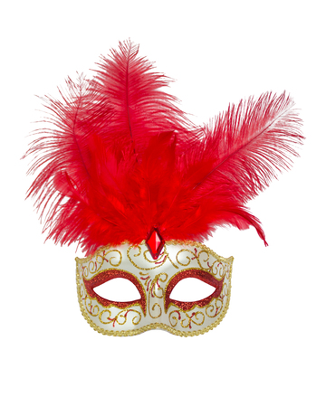 fasching: Red carnival mask.