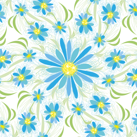 Abstract vintage seamless flower pattern Stock Photo