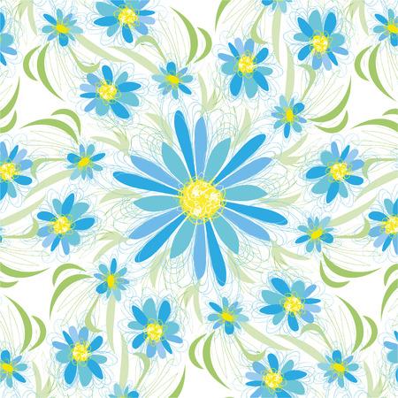 Abstract vintage seamless flower pattern 向量圖像