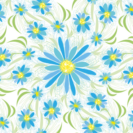 Abstract vintage seamless flower pattern Illustration