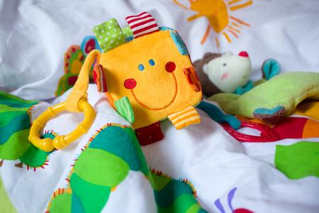 baby toys. Selective focus. Stock Photo