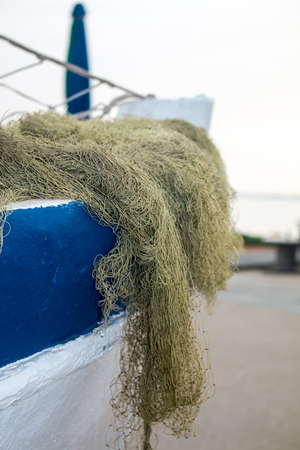 Fishing net, background. Banque d'images - 104589341
