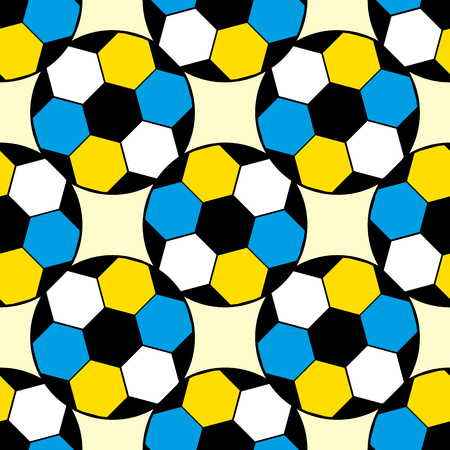 Football pattern seamless repeat. Simple illustration of football vector pattern geometric for any web design 일러스트