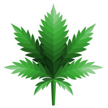 cannabis leaf logo Designs Inspiration Isolated on White Background Illustration
