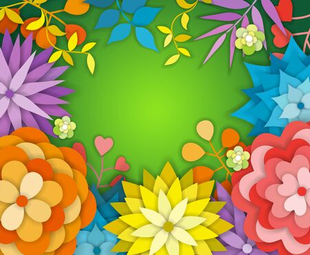 Floral Spring Graphic Design - with Colorful Flowers - for t-shirt, fashion, prints