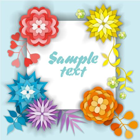 Beautiful floral card with place for text