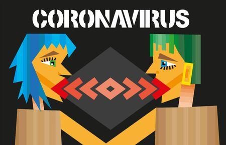 coronavirus 2019-nCoV concept.Dangerous  nCoV coronavirus, SARS pandemic risk alert.