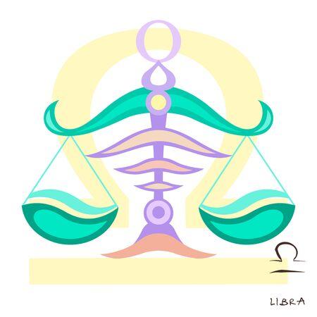 Libra icon. Libra vector illustration. Symbol of femida court and judge. Compare sign. Measurement flat icon. Illustration