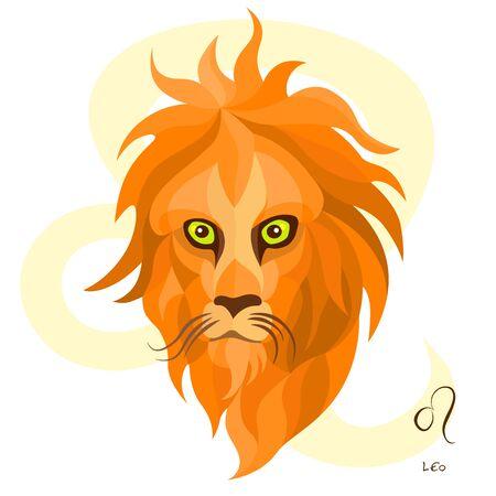 vector of leo horoscope sign in twelve zodiac
