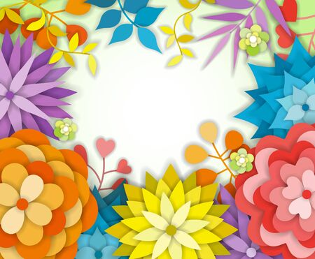 Floral Graphic Design - with Colorful Flowers - for t-shirt, fashion, prints