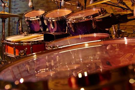 Fragment drums close-up, selectieve focus