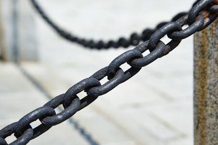Metalen zwarte dikke ketting