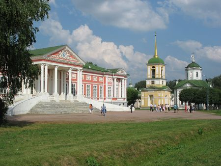 The manor Kuskovo - a unique monument of art culture of XVIII century - is located in Moscow. The magnificent summer residence Sheremeteva