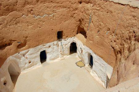dwellings: Matmata and the troglodyte dwellings. Tunis Stock Photo