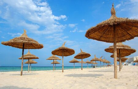 tunis: Beach in the city of Suss. Africa, tunis. Stock Photo