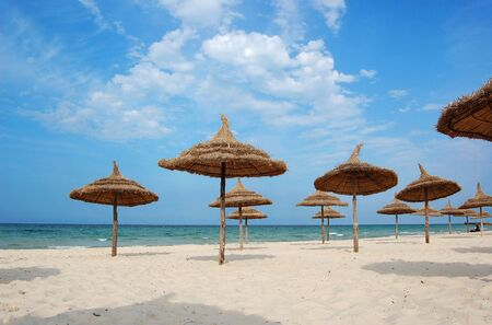 Beach in the city of Suss. Africa, tunis. Stock Photo