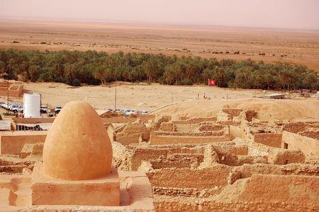 Mountainous oasis in Tunisia. Sahara, Chebika photo