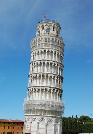 The famous leaning tower in Pisa.  italy