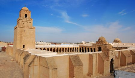 kairouan: Great Mosque of Kairouan, Tunisia, africa