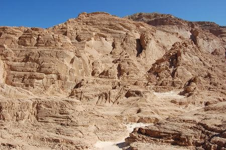 slot canyons: White canyon in Egypt. Sinai peninsula, Nuveiba.